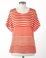 New! Sz 1X (18) Coldwater Creek Floating Stripes Top in Orland Park, Illinois