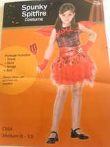 NEW SPUNKY SPITFIRE girls dress-up red costume, dress, skirt, wings, belt in Lockport, Illinois