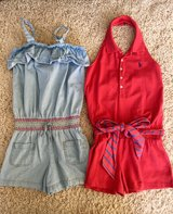 Girls Summer Rompers-Size 10 in Joliet, Illinois