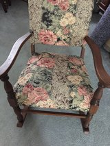 very old  antique elegant rocking chair in Fort Knox, Kentucky