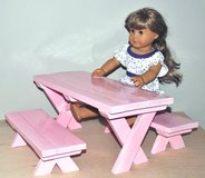 "Doll Picnic Table (Fits 18"" dolls) - On Sale in Chicago, Illinois"
