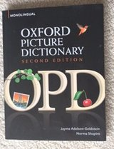 Oxford Picture Dictionary MOnolingual English (ESL) CREDIT CARDS ACCEPTED!!! in Bolingbrook, Illinois
