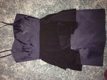 Navy & black peplum dress h& m labeled size 8 but fits like a 2/4 in Yorkville, Illinois