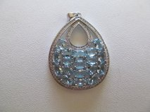 BLUE TOPAZ PENDENT, REAL. NEW AND BEAUTIFUL!! in DeKalb, Illinois