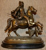 RARE Bronze Statue of Frederick the Great in Baumholder, GE