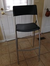 Black leather bar stool in St. Charles, Illinois