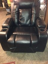 2 Large Ashley Leather Electric Recliners in excellent condition in Tifton, Georgia