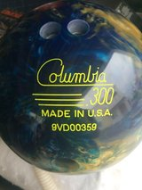 Columbia splash bowling ball in Okinawa, Japan
