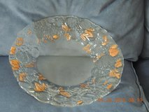 12 inch glass plate featuring gold accents in Fort Belvoir, Virginia
