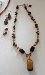 Handcrafted ..2 Necklaces/3 Earrings/ 1Bracelet in Camp Lejeune, North Carolina