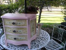Vintage painted rose pink chest in Naperville, Illinois
