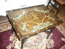 Vintage Decorator Wooden Tray on A Stand~ 2 PC in Kingwood, Texas