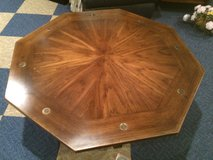 vintage coffee table w/glass top protection in Joliet, Illinois