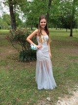 REDUCED Star Box Silver Prom Dress in Liberty, Texas