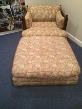 vintage tapestry love seat w/ottoman in Shorewood, Illinois
