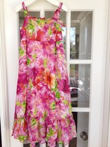 Pink Flowered Hawaiian Dress Size 6-8: Rare Editions Brand from Von Maur in St. Charles, Illinois