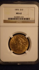 1893 NGC-MS62 $10 gold eagle in 29 Palms, California