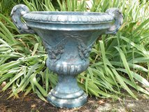 Stone Pedestal Planter in Glendale Heights, Illinois