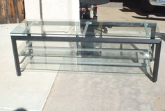 Glass TV Stand in San Clemente, California