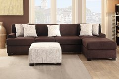 NEW LARGE SECTIONAL OR SOFA LOVE SET ONLY $399 SOLID CHOCOLATE in Riverside, California