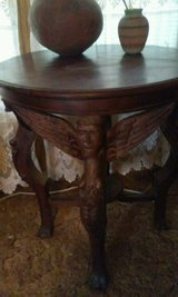 Antique Table  Carved in Alamogordo, New Mexico