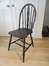 Petite Bow Back Windsor Side Chair, Shaped Back Splat, Solid Wood, Very Appealing Vintage! in Brookfield, Wisconsin