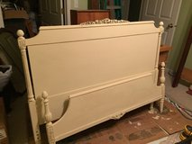 Antique Full Size Bed Cream in Naperville, Illinois