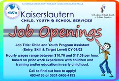 Child and Youth Program Assistant in Ramstein, Germany