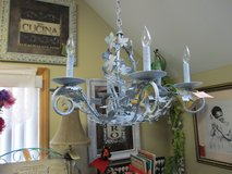 Elegant Painted Leaf Chandelier At Twice As Nice Flea Market Booth # 605 in Camp Lejeune, North Carolina