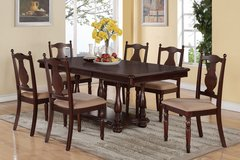 7 PC DINE SET $399 FORMAL OR COUNTER HIGH WITH LEAF in Riverside, California