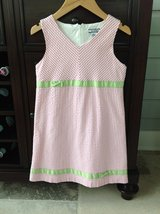 Girls Pink Gingham Sundress Size 7 (Hartstrings Brand) in Glendale Heights, Illinois