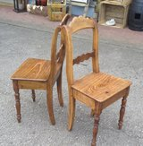 2 rare antique chairs made of ash tree wood in Wiesbaden, GE