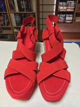 High Heel Red Sandals in Okinawa, Japan