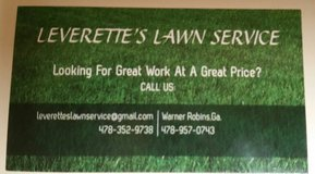 Leverette's Lawn Service in Warner Robins, Georgia