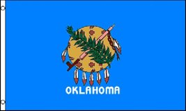 USA State Flag - Oklahoma - 3' x 5' - Polyester - New in Tacoma, Washington