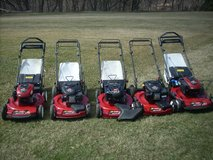 L@@K TORO & HONDA LAWN MOWERS; PERSONAL PACE, BLADE BRAKES,HIGH WHEELS, BAG OR WITH OUT CLEAN MA... in Naperville, Illinois