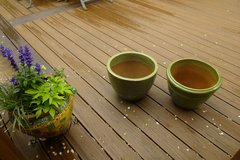 Green Concrete Planter Pots in Glendale Heights, Illinois