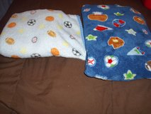2 super soft fleece baby sports blankets in Houston, Texas