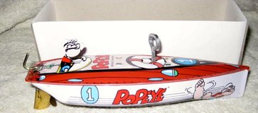 COLLECTIBLE POPEYE TIN SPEEDBOAT-1996 PRODUCTION MINT IN THE BOX in Okinawa, Japan