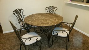 Marble Top 5-piece Dining Room Table & Chairs in Beaufort, South Carolina
