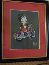 Biker Betty Boop framed collector's edition in Moody AFB, Georgia