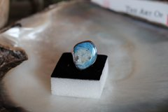 boulder opal natural platinum over sterling silver ring appraised value $4300 in Los Angeles, California