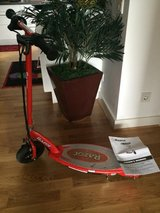 Red electric scooter in Wiesbaden, GE