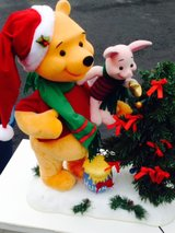 Winnie the Pooh Christmas decoration in Elgin, Illinois