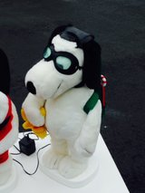 Snoopy with Christmas backpack in Elgin, Illinois