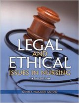 Legal and Ethical Issues in Nursing (6th Edition) Paperback–by Ginny Wacker Guido JD MSN RN in Lockport, Illinois