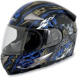 AFX FX-90 Blue Shade Helmet with new Smoke anti fog shield in Plainfield, Illinois