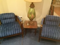 vintage 2 blue cane barrel chairs in Naperville, Illinois