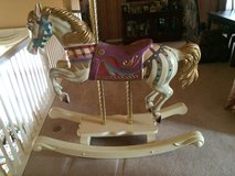 carousel wood  rocking horse-adult size in Naperville, Illinois