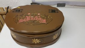 painted wood box/ bread box in Ramstein, Germany